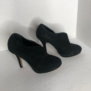 ALDO Black Suede Bootie Heel with Front Slit
